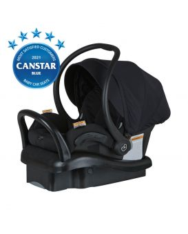 Baby Capsule Mico AP Black Devotion 45 angle view with cover and base