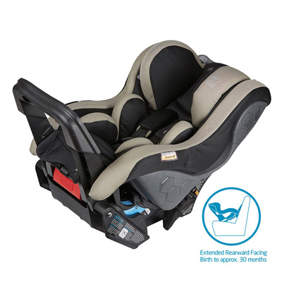 Maxi-Cosi Euro Nxt car seat in reward facing position