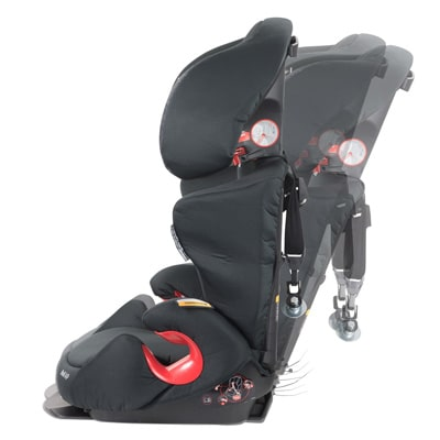 Maxi-Cosi Rodi Booster seat in various inclined positions