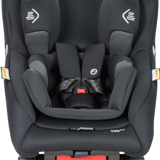 vela slim convertible car seat with quickfit harness sytem