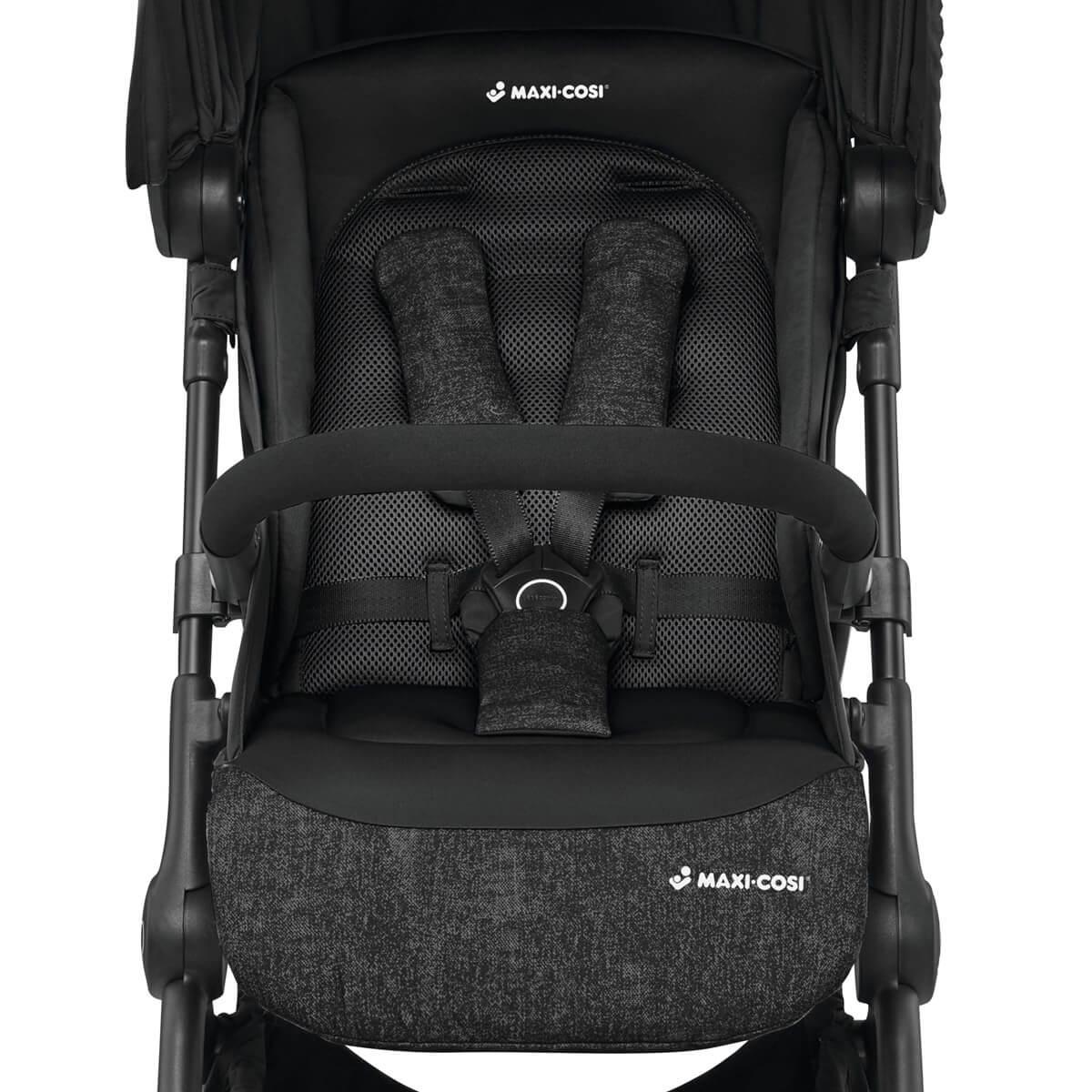 The Maxi-Cosi Lara strollers seat mesh fabrics help baby regulate its temperature