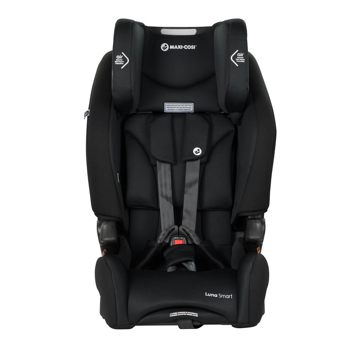 luna smart booster seat - harness adjustment