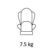Titan Pro weight 7.5 kg