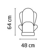 Titan Pro Front height 64 cm, Width 48cm