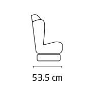 Titan Pro side width 53.5 cm