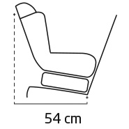Maxi-Cosi Vita Pro Side Inclined Dimensions