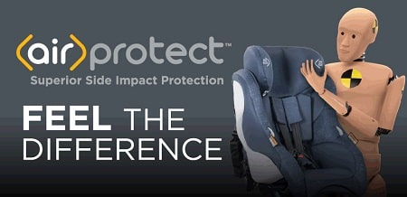 Vela slim baby car seat - wirprotect technology
