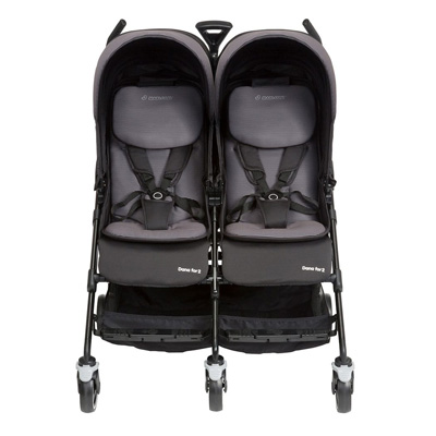 Maxi-Cosi Dana For2 Twin Stroller with extra padding for comfort