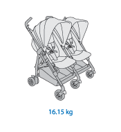 Dana For2 Twin Stroller Weight: 16.15kg