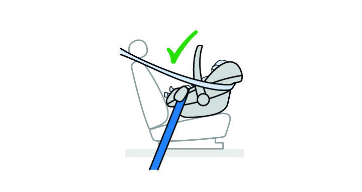 Maxi-Cosi Baby Capsule handle upright position provide extra safety for baby in car seat.